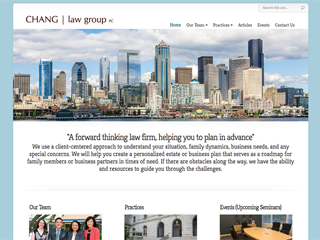 Chang Law Group Redesign